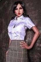 〖藤原理沙〗166cm C-cup 魅力的 リアルドール 制服  Fire Doll#24