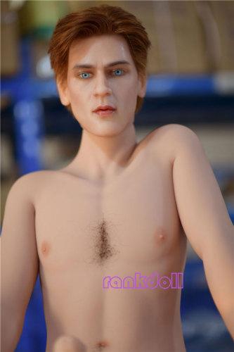 173cm【asuka】6YE Doll男性シリコン頭部+tpeボディラブドール(髪、眉、あごひげを植付する)