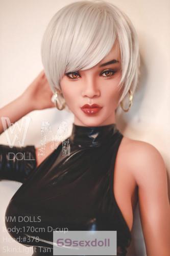 AmIll - While Hair 170cm 378# Head D-cup TPE Sex Doll