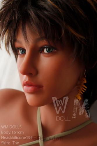 Cindy - Handsome Short Brown Hair 161cm G cup 19# Head Silicone Head WM Sex Dolls For Men
