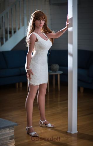 Tiffany - D-cup Siamese Skirt Cheap Sex Dolls #117 Head TPE 160cm WM Human Real Doll