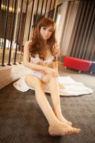 Rebecca - Black Eyes Life Size Sex Doll Head 158cm WM TPE Jasmine Real Dolls