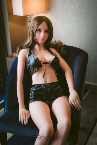 Melissa - 74# Head TPE Black Leather Jacket Sexy Sex Doll 163cm WM Real Dolls for Men