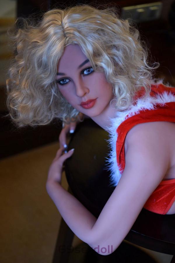 Jasmine - 111# Head TPE Blonde Curly Hair Fine Sex Dolls 161cm WM Real Doll Creampie