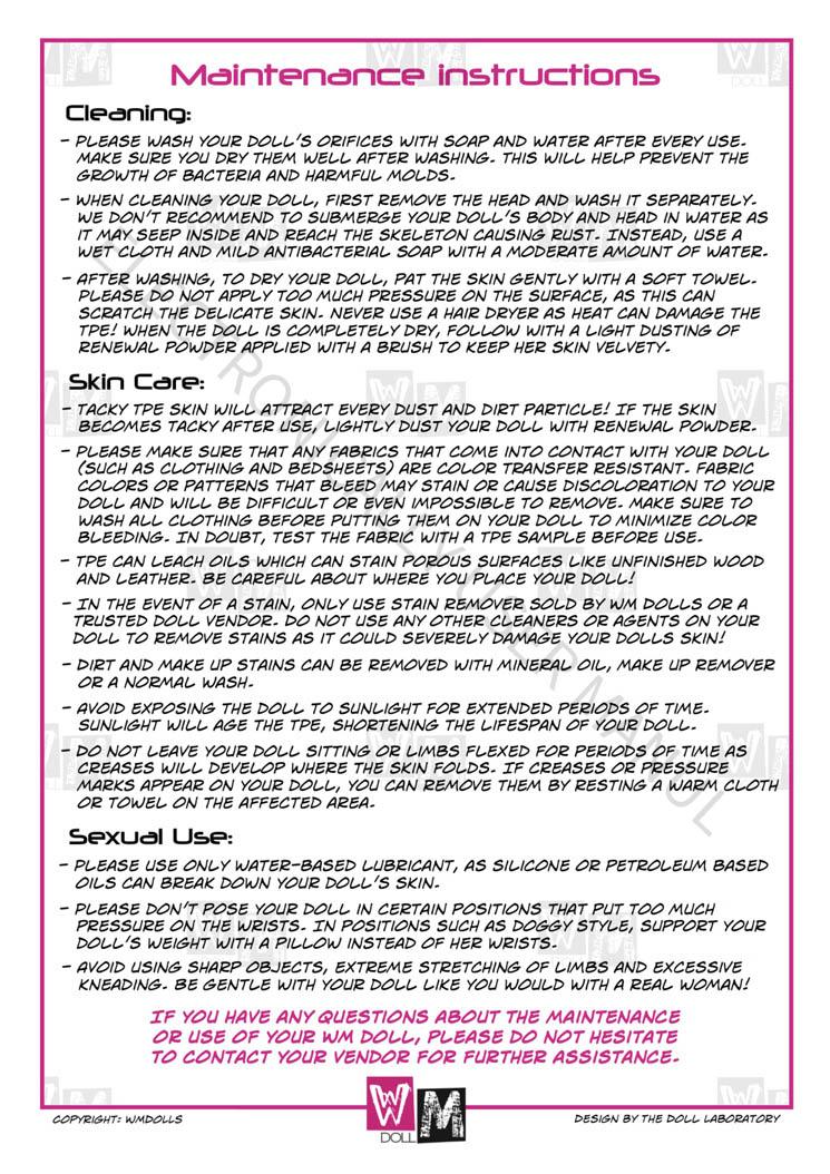 WM TPE Sex Doll manual-12