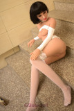 Lana - Black Short Hair 6YEDOLL Real Life Sex Doll TPE 158cm Realistic Real Sex Dolls
