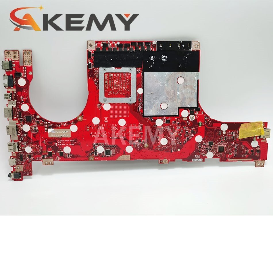 Akemy GL504GM motherboard For ASUS ROG HERO GL504GM GL504GS GL504GV GL504GW GL504 laptop motherboard I7-8750H GTX 1060 /6GB