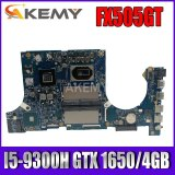 Akemy Motherboard For Asus TUF Gaming FX505G FX505GT FX95GT FX95GT9750 Laptop Mainboard I5-9300H GTX 1650/4GB GDDR5