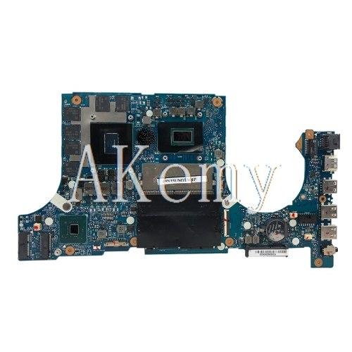 Akemy Motherboard For Asus TUF Gaming FX86F FX86FM FX86 FM8750 Laptop Mainboard original Motherboard I7-8750H GTX1060-6GB