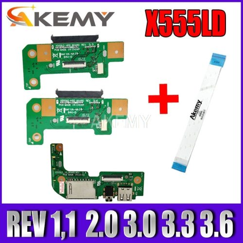 NEW ! X555LD REV 3.3 3.6 2.0  HDD board For Asus X555L X555LD Laptop HDD Hard Disk Drive Board / USB audio Board  to send cable