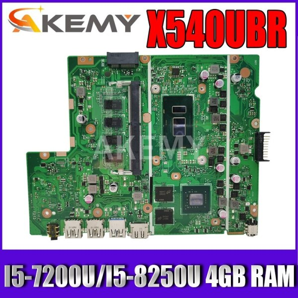 Akemy X540UBR Laptop Motherboard For Asus X540UB X540UBR MainBoard Tested W/ I5-7200U/I5-8250U 4GB RAM
