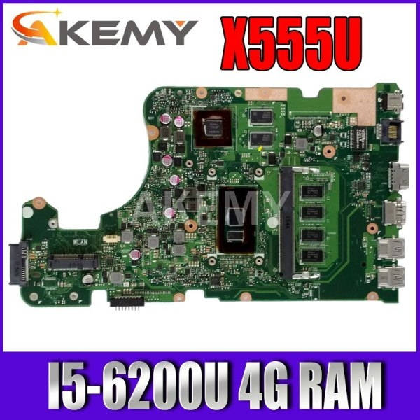 New Akemy motherboard for ASUS X555UF X555U X555UQ I5-6200U 4G RAM laptop motherboard