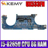 Akemy For ASUS ZenBook 15 UX533FN UX533FD RX533F Laotop Mainboard UX533FN Motherboard I5-8265U CPU 8G RAM MX150 free shipping