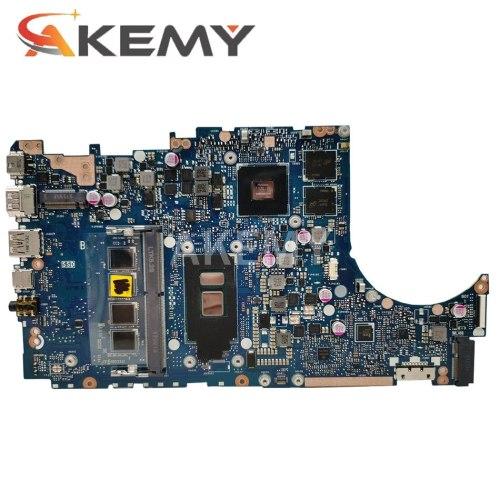 Akemy TP410UAR Motherboard  For ASUS VivoBook Flip 14 TP410UAR TP401UA TP410UR Laotop Mainboard I7-8550U 8G RAM 90NB0FS0-R01E00