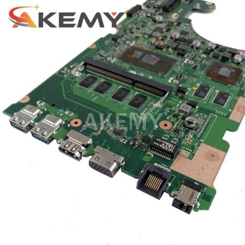New Akemy motherboard for ASUS X555UF X555U X555UQ I5-6200U 4G RAM laptop motherboard