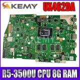 Akemy For ASUS ZenBook 14 UX462 UX462DA Laotop Mainboard UX462DA Motherboard R5-3500U CPU 8G RAM test free shipping