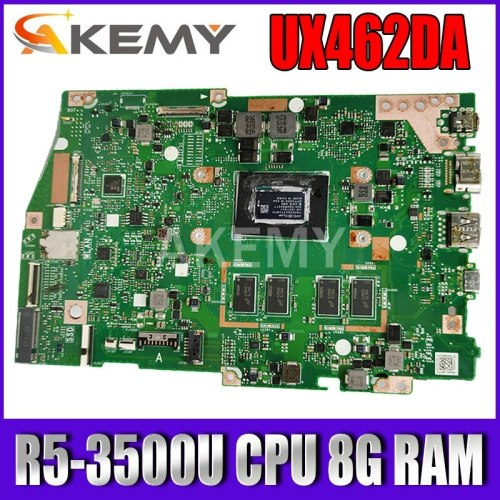 Akemy For ASUS ZenBook 14 UX462 UX462DA Laotop Mainboard UX462DA Motherboard R5-3500U CPU 8G RAM test free shipping