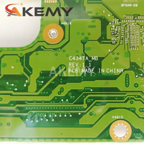 Akemy For ASUS Chromebook Flip C434TA-DSM4T C434TA Laotop Mainboard C434TA Motherboard with 128G SSD 4G RAM