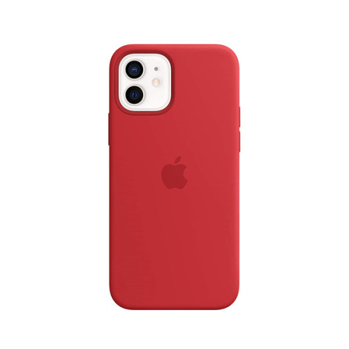 Silicone Case with MagSafe (for iPhone 12, iPhone 12 Pro) - RED