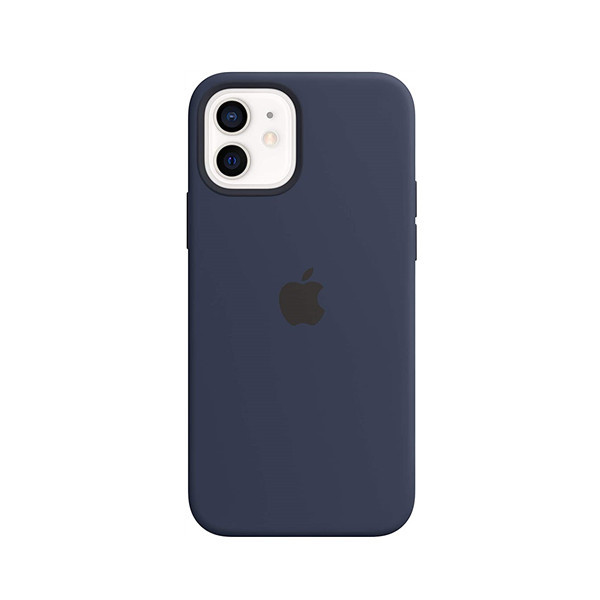 Silicone Case with MagSafe (for iPhone 12   12 Pro) - Deep Navy