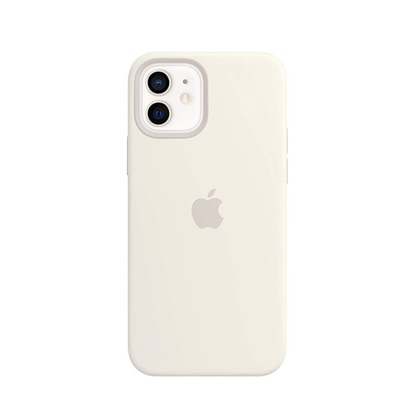 Silicone Case with MagSafe (for iPhone 12 | 12 Pro) - White