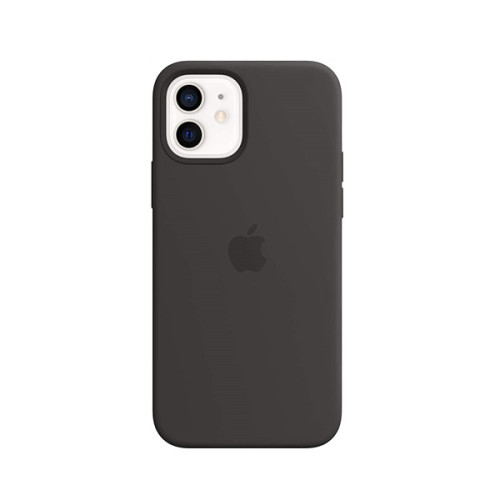 Silicone Case with MagSafe (for iPhone 12 | 12 Pro) - Black