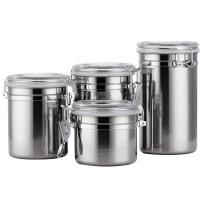 Stainless Steel Kitchen Storage Canister Set 4pcs