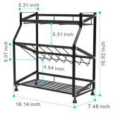 Countertop Spice Storage Organizer Rack