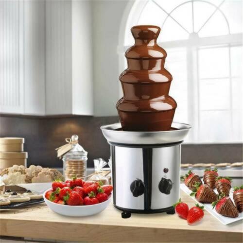 4 Tier Chocolate Fondue Fountain Stainless Steel Machine