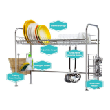 Premium Stainless Steel Over The Sink Dish Drying Rack