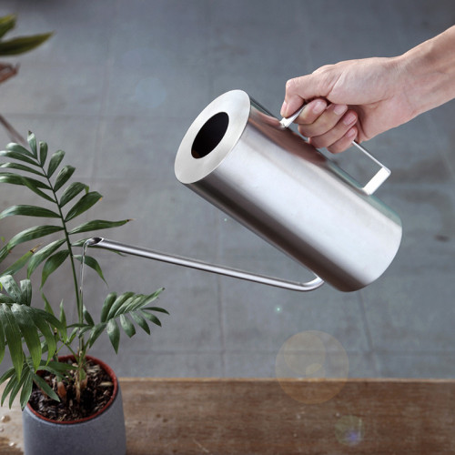 1.5l Stainless Steel Watering Can Gardening Flower Teapot