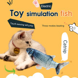 3D Electronic Cat Toy Electric USB Charging Fish Imitation Toy