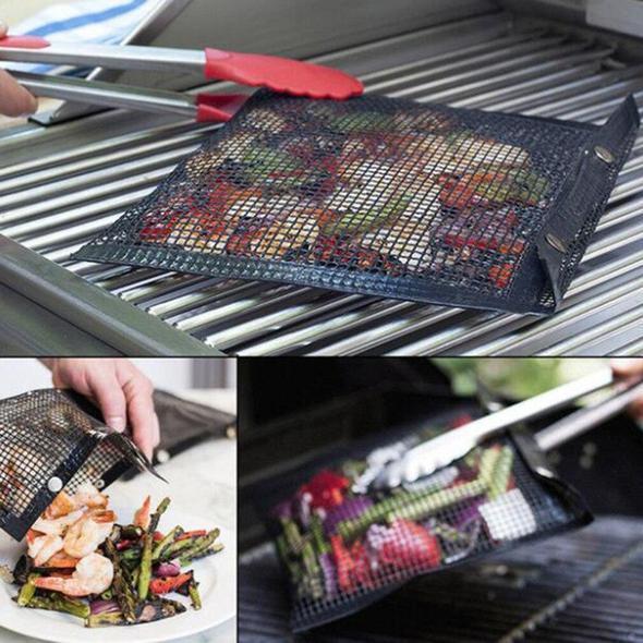 Reusable Non-Stick BBQ Mesh Grill Bags