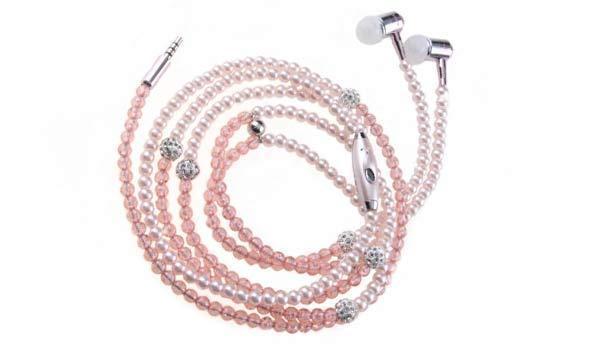 Diamond Pearl Luxury Ear Phones