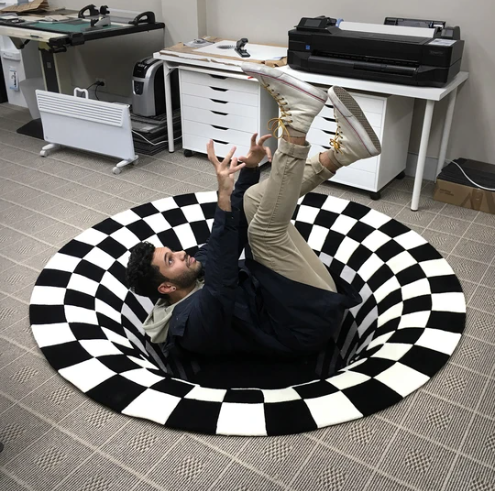 3D Vortex Illusion Rug 3D Illusion Carpet