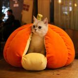 Pet Cat Plush Beds Pumpkin House Dog Bed