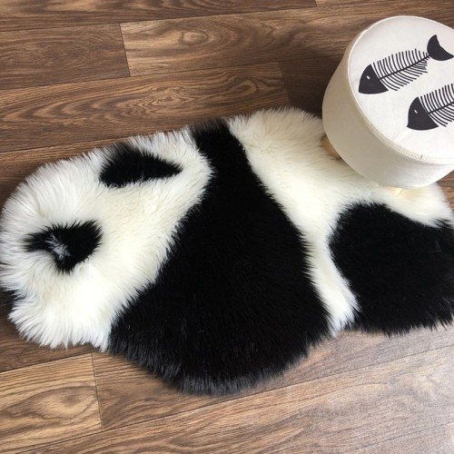 Panda Printed Rug  Panda Carpet Non Slip Mat 94x100CM Animal print Carpet