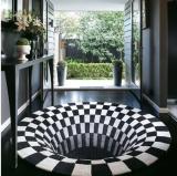 3D Vortex Illusion Rug