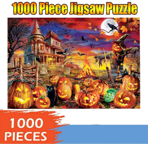 1000 Piece Halloween Jigsaw Puzzles for Adults Kids  Toys Gift 29.53  x 19.69