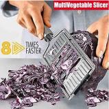 Multi-Purpose Vegetable Slicer Adjustable Stainless Steel Shredder Cutter Grater Slicer