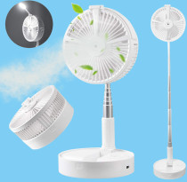 USB Humidifying Water Spray Fan Portable Foldable Retractable Fan