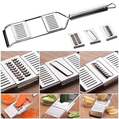 Multi-Purpose Vegetable Slicer Adjustable Stainless Steel Shredder Cutter Grater Slicer