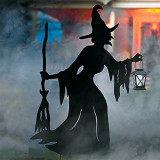 Visiting Light-Up Witches with Stakes-Set of 3