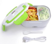 Portable Electric Heating Lunch Box Food Warmer Storage Box Kit with Removable Container