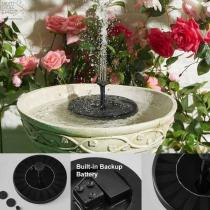Original Solar Bird Bath Fountain Great Addition to Your Garden