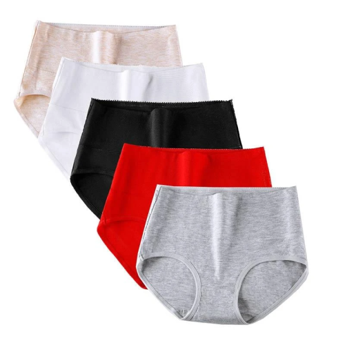 7 Pcs/Set High Waist Cotton Underwear