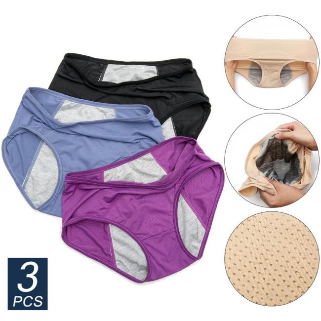 3pcs/Set Menstrual Panties
