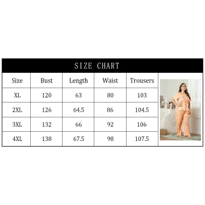 Women's Silk Plus Size Suit Housewear