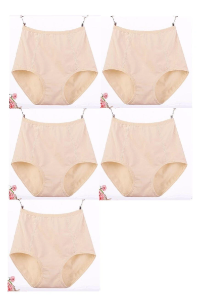5Pcs/Set Large Size Panties Soft Cotton Underpants