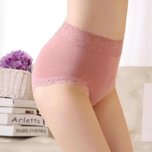 High waist women's pure cotton underwear